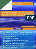 SESION 1 DEO El marco de la Dirección Estratégica
