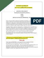 Actividad de aprendizaje 19. DOFA