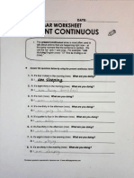 Worksheets Present Continuous