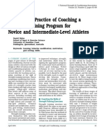 Science and Practice of Coaching a Strength Training Program