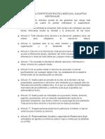 ARTICULOS DE LA CONSTITUCION POLITICA MEXICANA