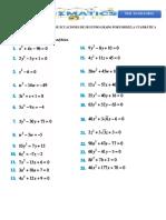 Laboratorio de Solución de Ecuaciones de Segundo Grado Por Formula Cuadrática