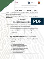 ACTIVIDADES UNIDAD 4. ADMINISTRACION DE LA CONSTRUCCION