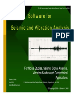 Software Approach to Seismic Monitoring and Vibration Analysis