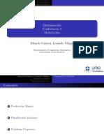 Conferencia 2 Optimizacion Modelacion