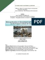 métropolisation et periurbanisation à Cotonou -