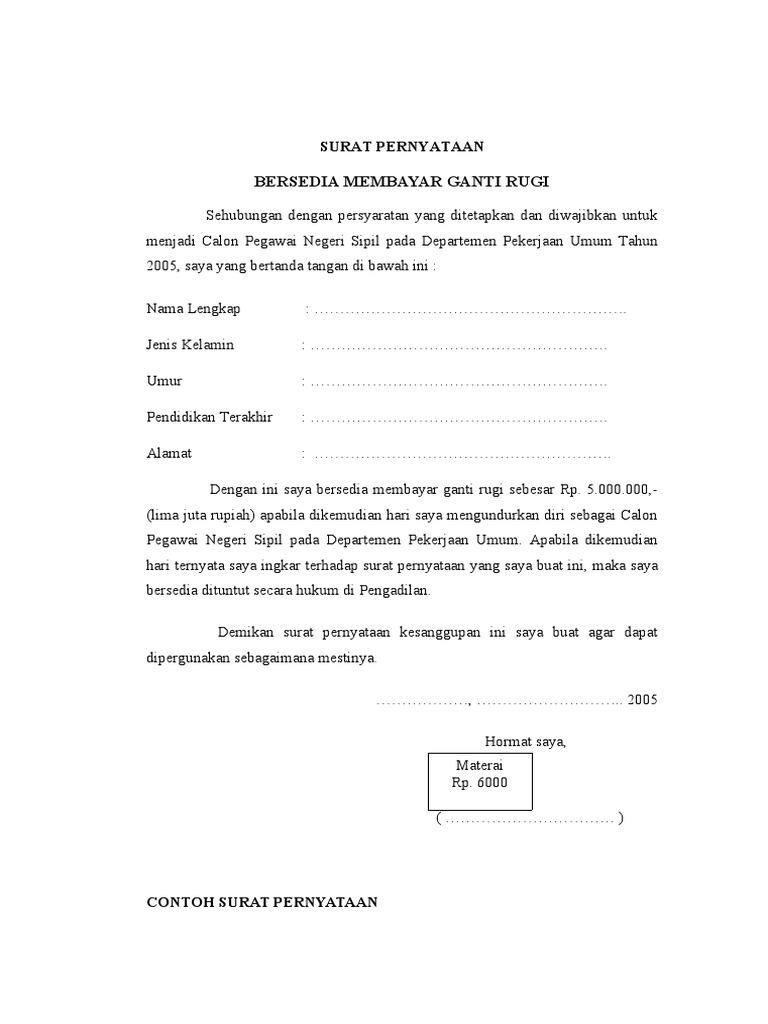 Contoh surat surat pernyataan thecheapjerseys Image collections