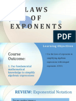 01 Laws of Exponent, Polynomials