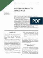 (1975) A Modified Beam Stiffness Matrix for Interconnected Shear Walls