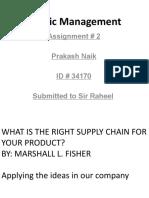 Logistic Management Asignment # 2