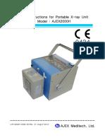 AJEX2000H Service Instruction Rev.7 CE MDD
