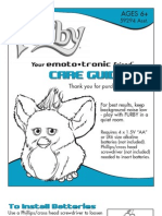 Furby Care Guide 2005 Asst 59294