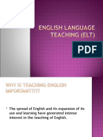 English Language Teaching (ELT)
