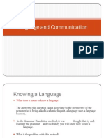 Language and Communication-A