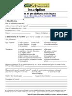 Formulaire inscription - activités