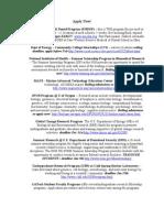 Internship Opportunities 09-10