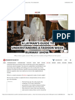 A layman's guide to understanding a fashion week runway show | The Independent