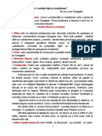 CONU LEONIDA FAȚĂ CU REACȚIUNEA - ANALIZA LITERARĂ (1)