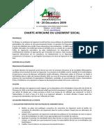 charte africaine du logement social _version commune_