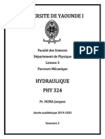 Hydraulique (PHY 324)