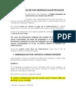 IMNDENIZACION DE POR DESPIDOS JUSTIFICADOS