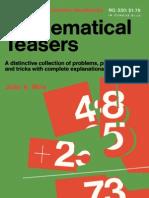 Mathematical Teasers - Julio A
