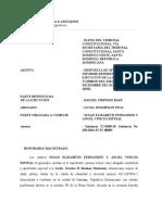Instancia Respuesta Informe No ejecucion de sentencia