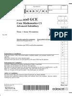 June 2006 QP - C1 Edexcel