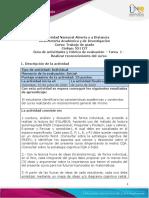 Guía de actividades y rúbrica de evaluación - Unidad 1 - Tarea 1 - Realizar reconocimiento del curso