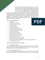 Entreprenuership Notes