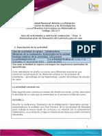 Guía 2. - Paso 2 - Determinar plan de formación del currículo para el caso