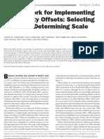 Kiesecker et al. 2009 Bio Science A Framework for Implementing Biodiversity Offsets