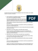 Gulfport Police Survey Response