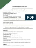 MSDS Chemlok 11005 - ácido cítrico