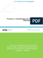 4. Proceso y metodologías de la investigación. Metodología cualitativa