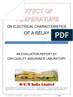 A STUDY ON THE EFFECT OF AMBIENT TEMP OF THE RELAY ON ITS OPERATING PARAMETERS