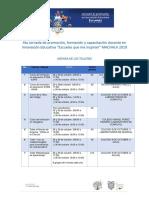 agendas de la 4ta Jornada Machala v1