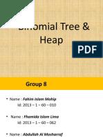 Binomial tree and heap