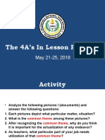 5 4As OF LESSON PLANNING
