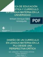 Diseño de un currículo en lengua materna desde una perspectiva crítica neomarxista