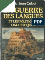 Calvet, la guerre des langues