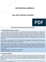SEMANA 6. DIAPOSITIVAS DERECHO PROCESAL LABORAL II