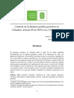 Contexto de la dinámica política petrolera en Colombia