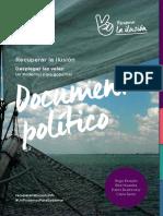 """Documento Político de la Candidatura """"Recuperar La Ilusión""""."""