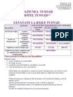 BAILE TUȘNAD HOTEL TUȘNAD 2019