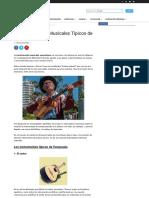 10 instrumentos musicales típicos de venezuela