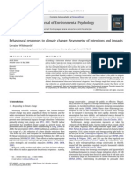 Behavioural Responses to Climate Change - Asymmetry of Intentions and Impacts