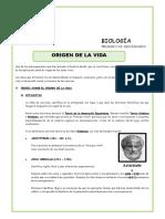 ORIGEN DE LA VIDA-1 DE SECUNDARIA