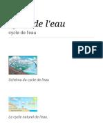 Cycle de l'eau — Wikipédia