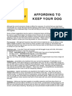 Fact Sheet Affording to Keep Your Dog